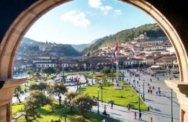 Cusco's main square holidays